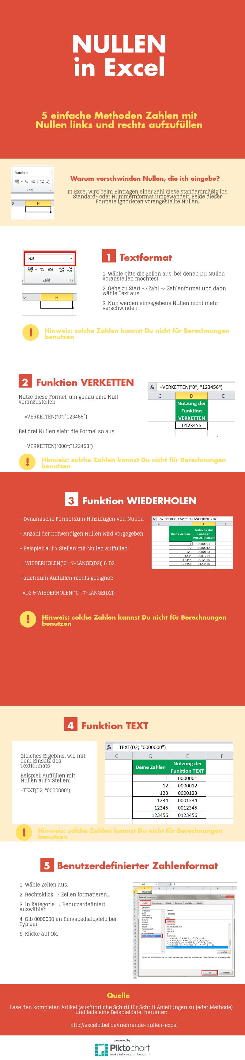 Infografik Nullen in Excel